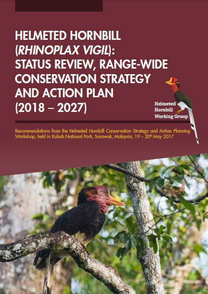 Helmeted Hornbill conservation strategy and action plan cover